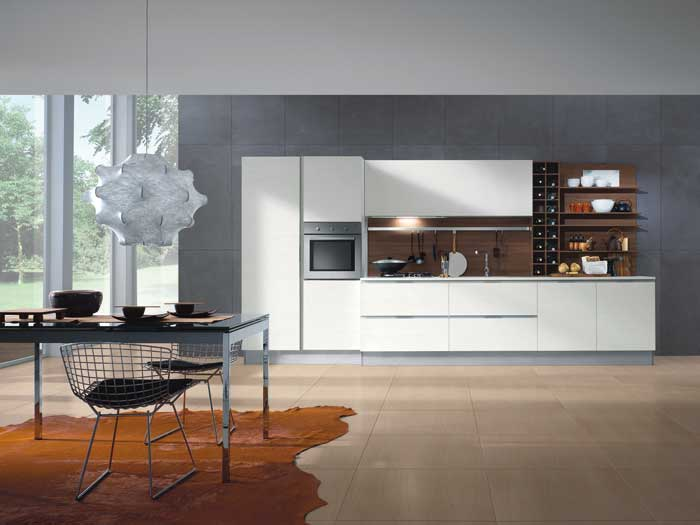 The kitchen with mark graham from composit kitchens for Modern one wall kitchen design
