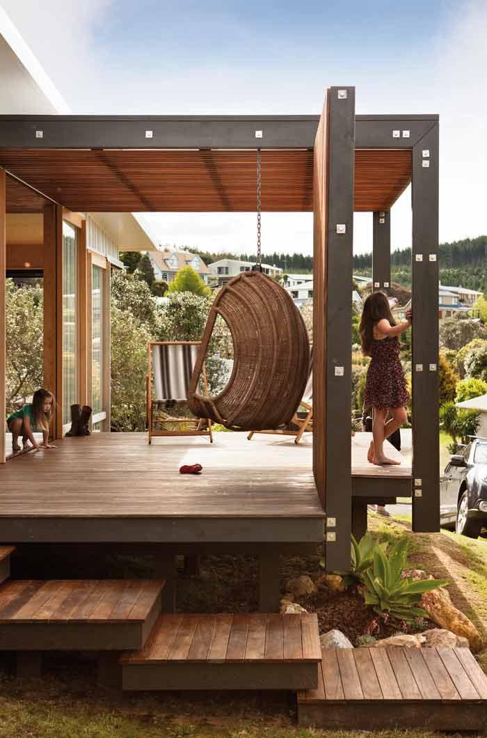 Clip-on veranda.