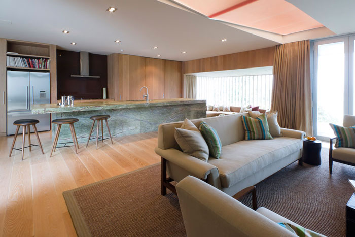 Furniture was custom-made to enhance the comfort and experience of each room.