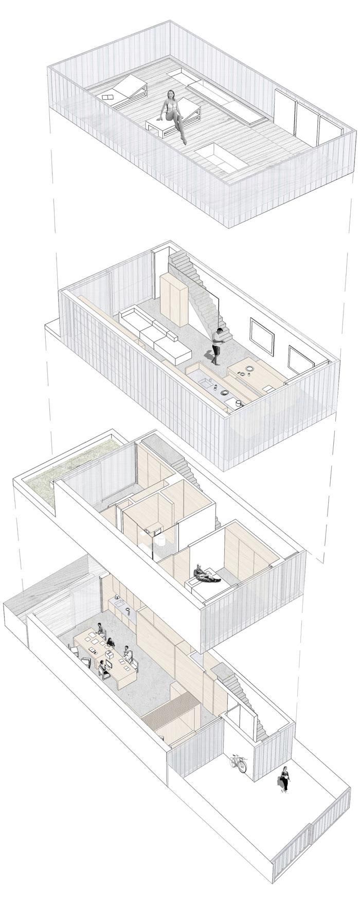 Axonometric Floor Plans