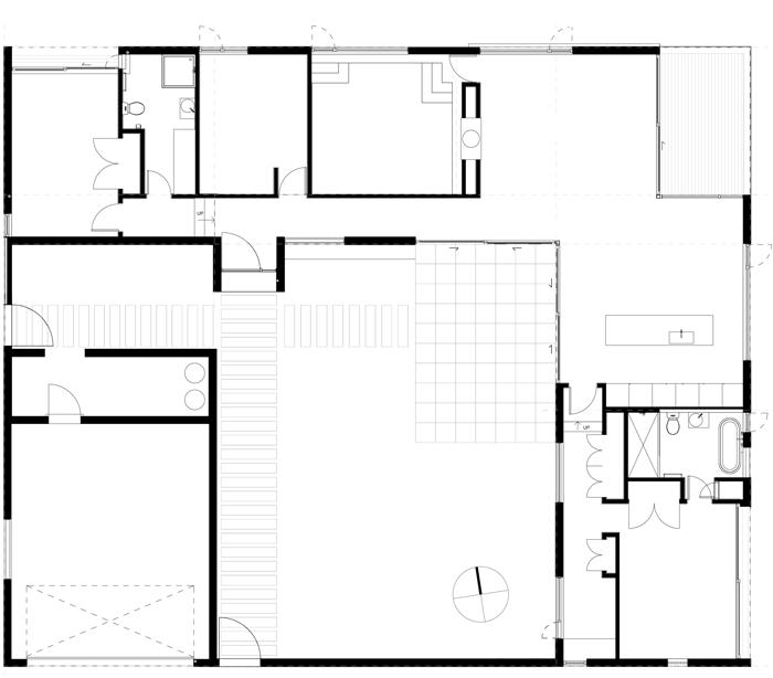 Courtyard House Floor Plan