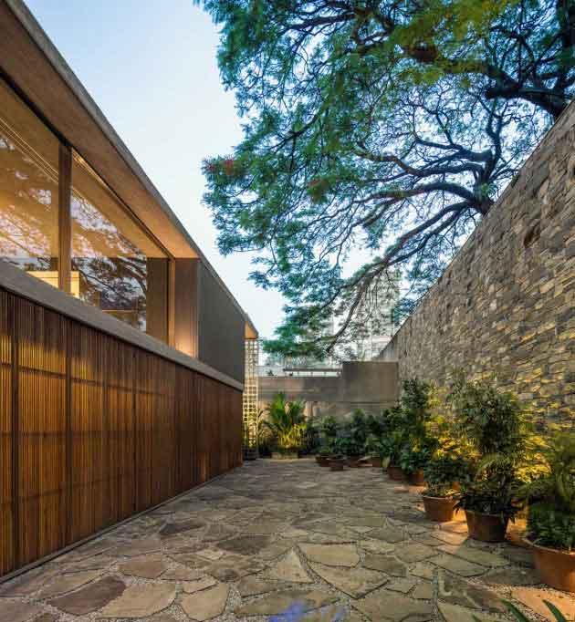 B+B House courtyard