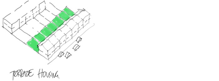 Terrace housing sketch