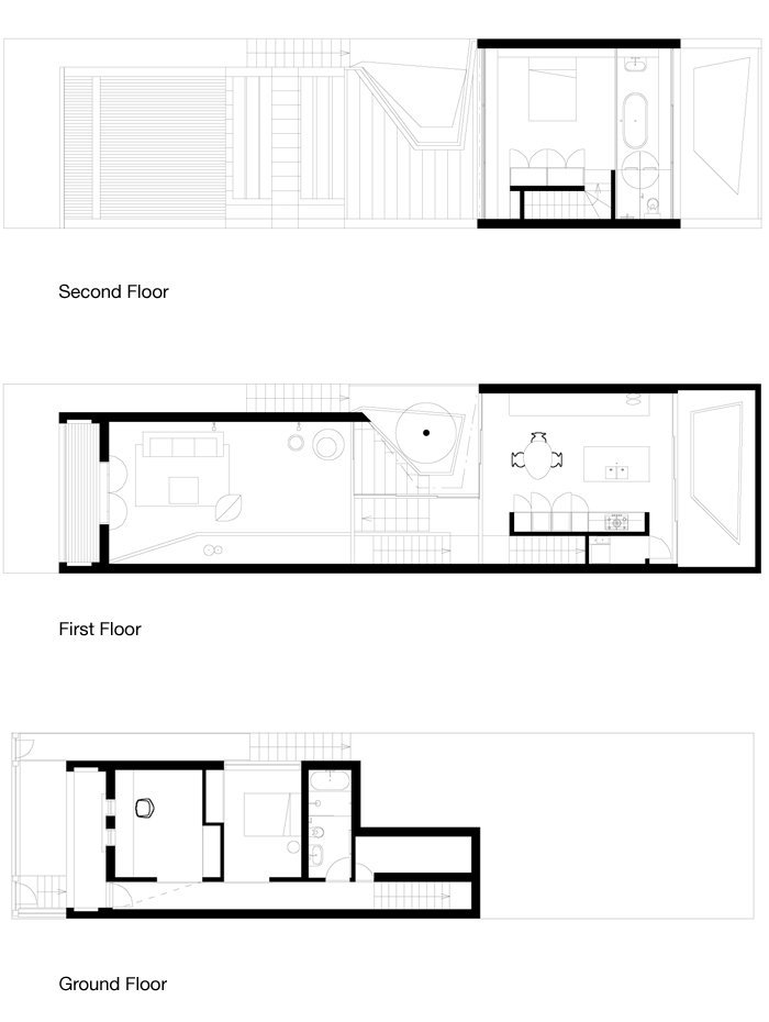 Skylight House floor plans