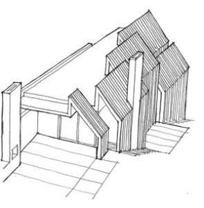 Folded house sketch