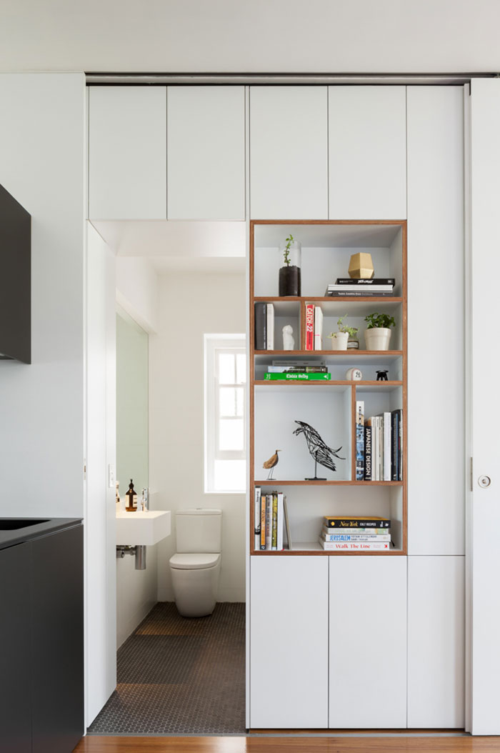Small apartment storage wall