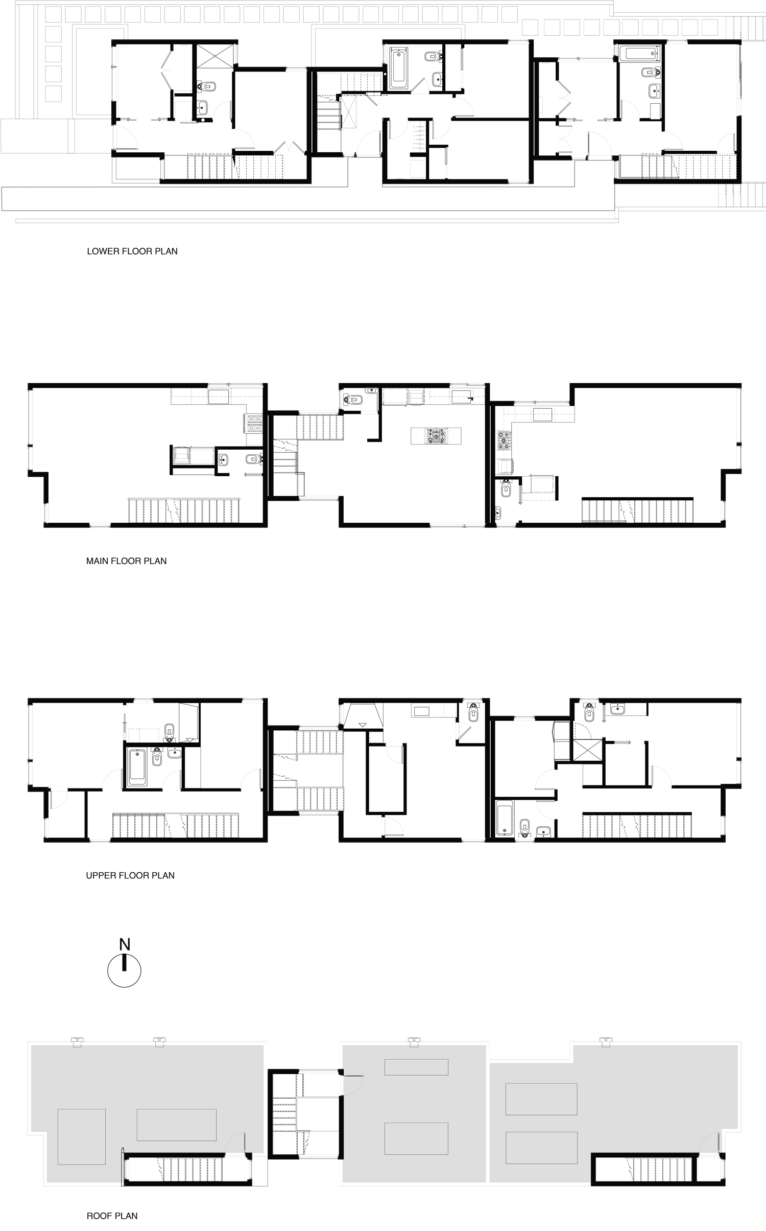 Townhouse floorplans
