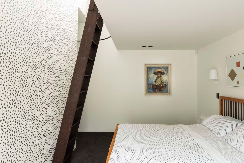 Dominic Glamuzina suburban house small loft with views inserted within main bedroom