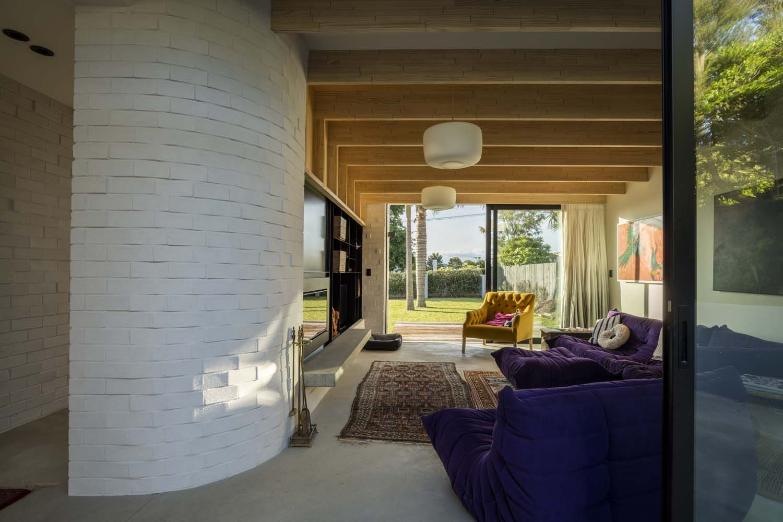 Dominic Glamuzina suburban house view through lounge to front yard