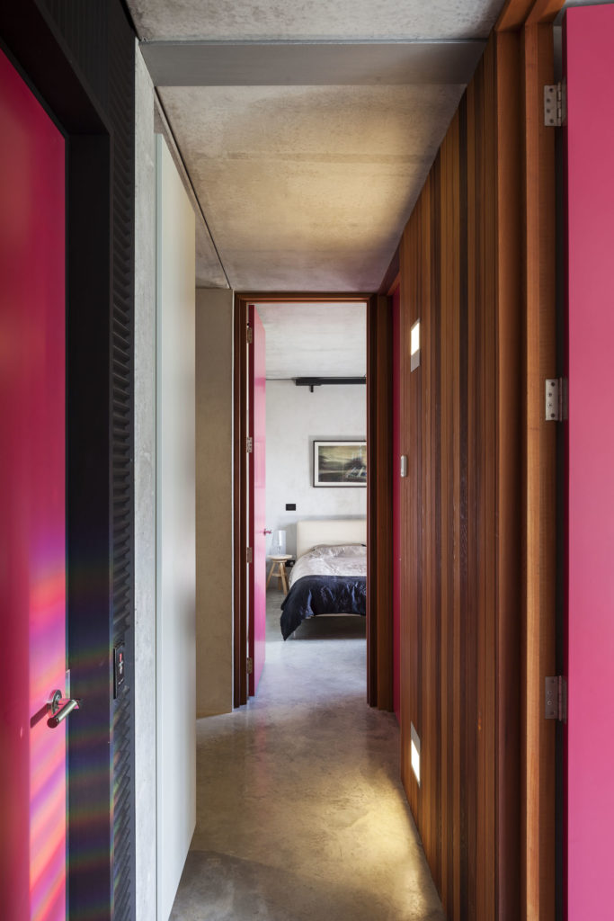 Gerrad Hall townhouse ink doors combine with oiled timber walls